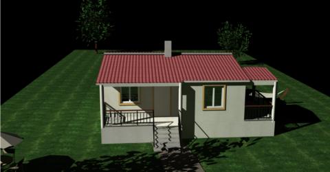 Νέα παραθαλάσσια εξοχική ξύλινη κατοικία